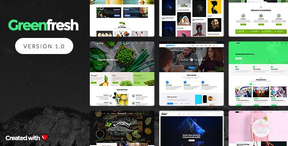 GreenFresh - قالب وردپرس چند منظوره خلاقانه