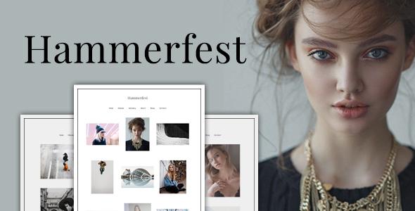 قالب Hammerfest - قالب عکاسی وردپرس