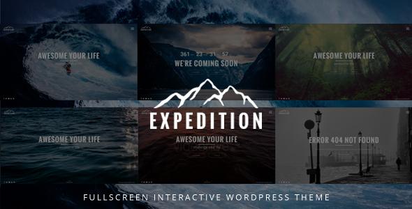 قالب Expedition - قالب وردپرس سایت تمام صفحه