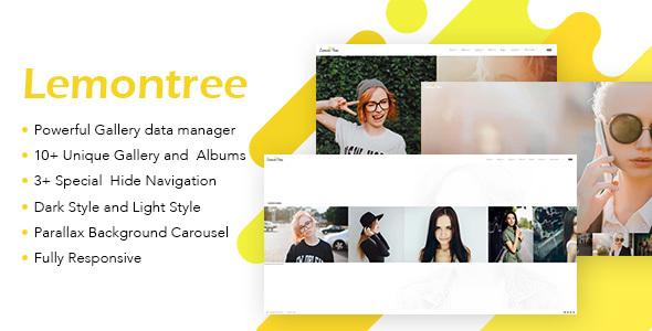 Lemontree - قالب وردپرس عکاسی و نمونه کار