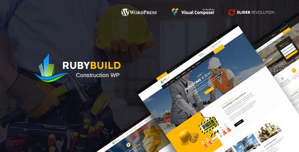 قالب RubyBuild - قالب وردپرس ساخت و ساز ساختمان