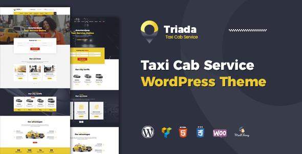 قالب Triada - قالب وردپرس شرکت خدمات تاکسی
