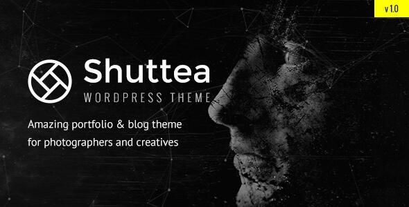 قالب Shuttea - قالب سایت نمونه کار عکاسان
