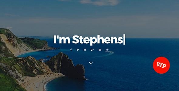 قالب Stephens - قالب وردپرس نمونه کار شخصی
