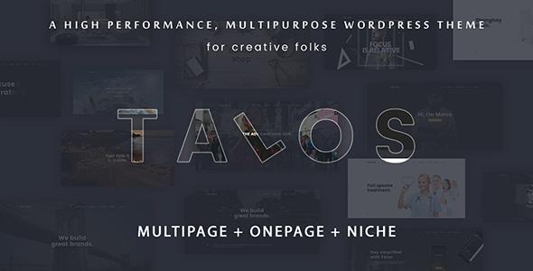 قالب Talos - قالب وردپرس چند منظوره و خلاق