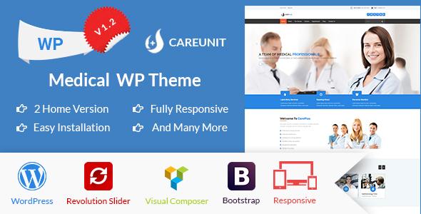 قالب Careunit - قالب وردپرس پزشکی