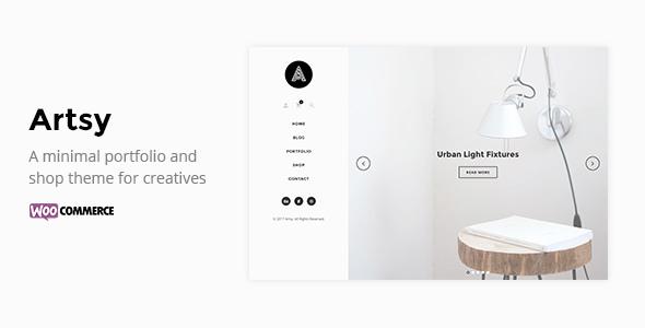 قالب Artsy - قالب وردپرس نمونه کار و فروشگاهی