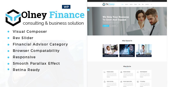 Olney Finance - قالب وردپرس مشاوره کسب و کار