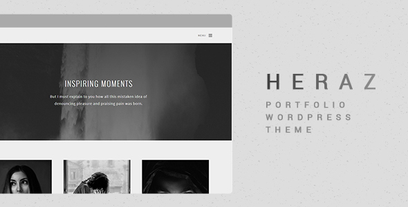 Heraz - قالب وردپرس نمونه کار خلاقانه