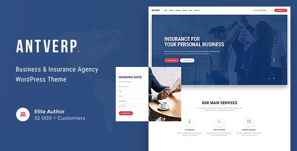 قالب Antverp - قالب وردپرس شرکت بیمه و مشاوره مالی