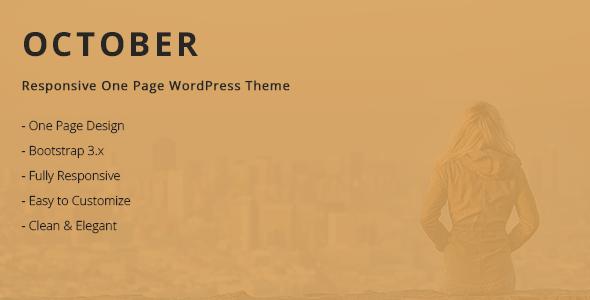 قالب October - قالب وردپرس تک صفحه ای
