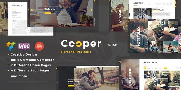 قالب Cooper - قالب وردپرس نمونه کار شخصی