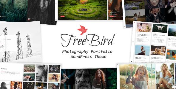 قالب FreeBird - قالب وردپرس نمونه کار عکاسی