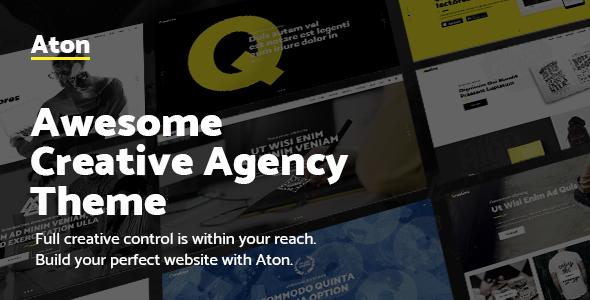 قالب Aton - قالب وردپرس آژانس های طراحی و فریلنسرها
