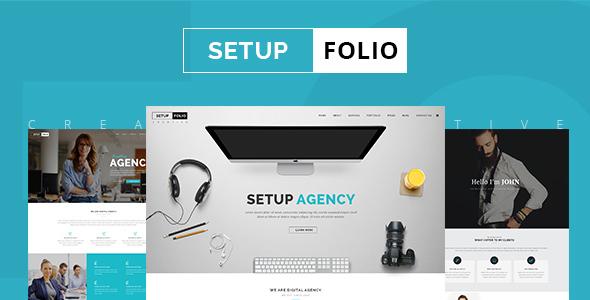 قالب Setup Folio - قالب وردپرس نمونه کار