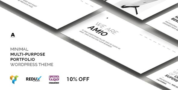 قالب Amio - قالب وردپرس سایت نمونه کار