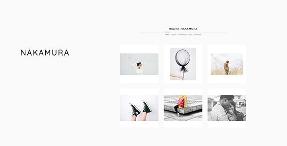 قالب Nakamura - قالب وردپرس نمونه کار و عکاسی مینیمال