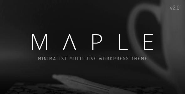 قالب Maple - قالب سایت مینیمال برای وردپرس