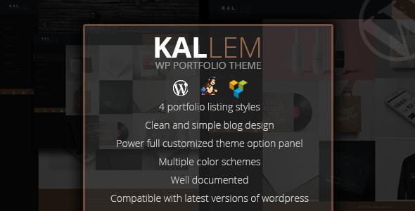 قالب Kallem - قالب وردپرس نمونه کار خلاقانه