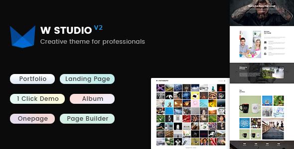 قالب W Studio - قالب وردپرس نمونه کار