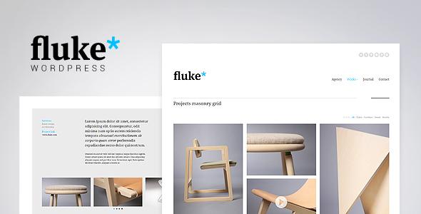 قالب Fluke - قالب وردپرس نمونه کار خلاقانه