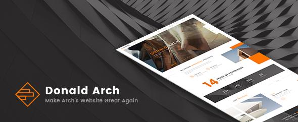 Donald Arch - قالب وردپرس معماری