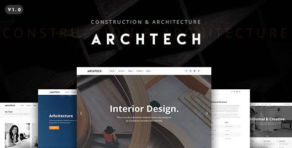 قالب Archtech - قالب وردپرس معماری