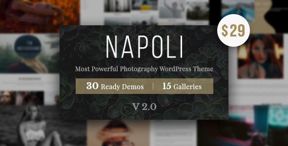 قالب Photography Napoli - قالب عکاسی وردپرس