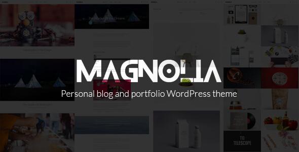 قالب Magnolia - قالب وردپرس نمونه کار و بلاگ