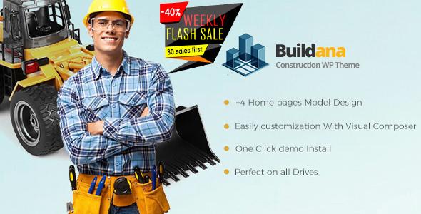 قالب Buildana - قالب وردپرس ساخت و ساز ساختمان