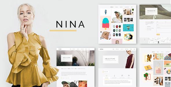 قالب Nina - قالب وردپرس نمونه کار ساده و خلاقانه
