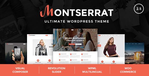 قالب Montserrat - قالب وردپرس چندمنظوره مدرن