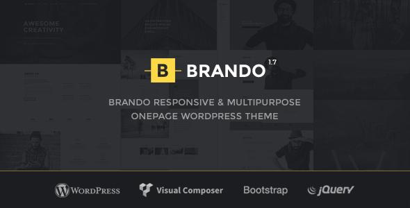 Brando - قالب وردپرس تک صفحه ای چند منوظره