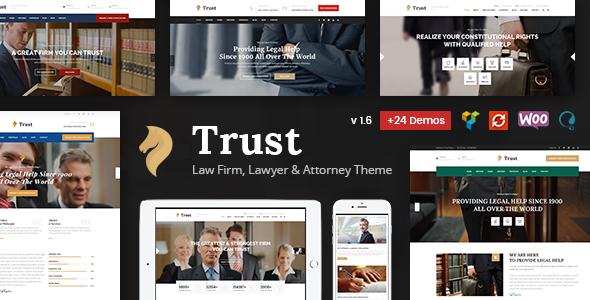 قالب Trust Business - قالب وردپرس وکیل و دادستان