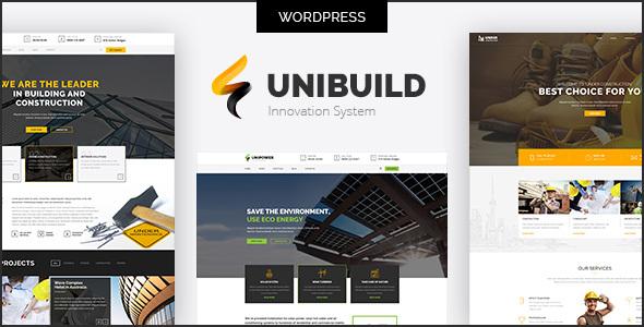 قالب Unibuild - قالب وردپرس کسب و کار و شرکت های تکنولوژی