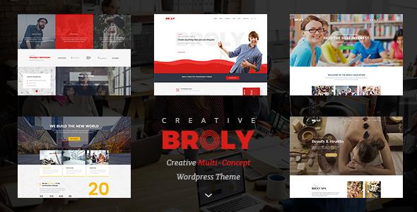 قالب Broly - قالب وردپرس چند مفهومی خلاقانه