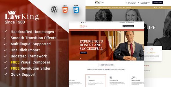 Lawyer - قالب وردپرس وکیل و وکالت