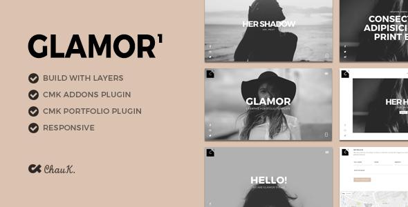 قالب Glamor - قالب وردپرس نمونه کار خلاقانه