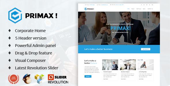 Primax - قالب وردپرس کسب و کار شرکتی