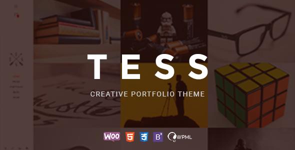 قالب TESS - قالب وردپرس نمونه کار خلاقانه