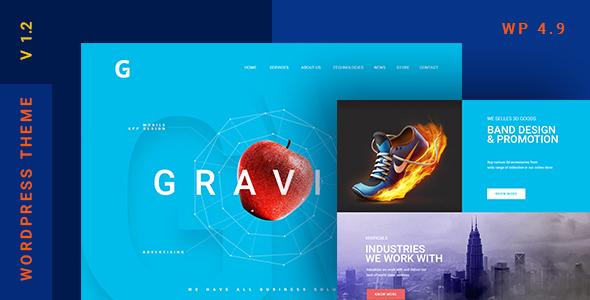 Gravitify - قالب وردپرس کسب و کار چند منظوره