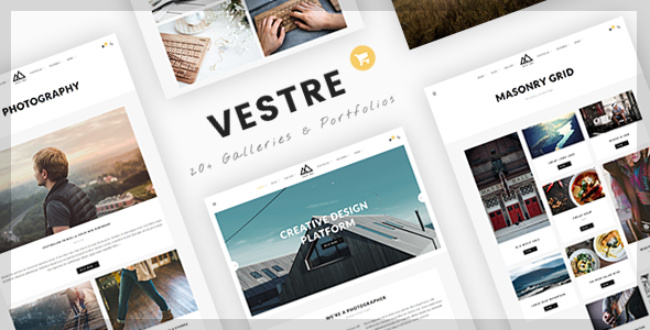 قالب Vestre - قالب وردپرس خلاقانه عکاسی و نمونه کار