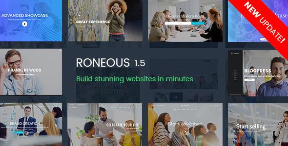 قالب Roneous - قالب وردپرس چند منظوره خلاقانه