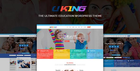 قالب Uking - قالب وردپرس آموزش