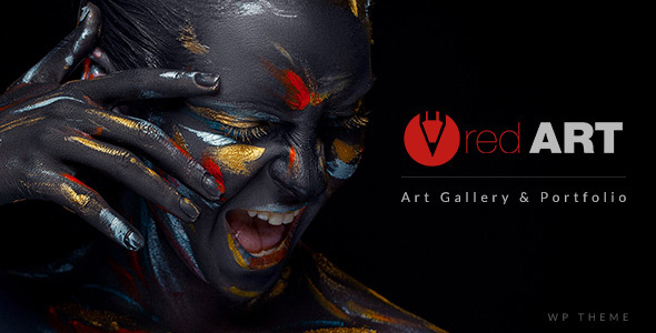 قالب Red Art Photography - قالب وردپرس گالری هنر، دانشگاه هنر