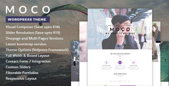 قالب Moco - قالب وردپرس تک صفحه ای