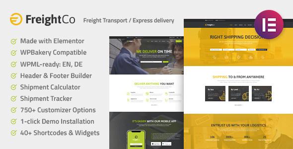 قالب FreightCo - قالب وردپرس حمل و نقل و انبارداری