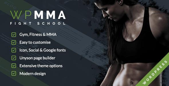 قالب WP MMA - قالب وردپرس باشگاه ورزشی تناسب اندام