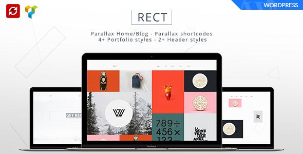 قالب RECT - قالب بوت استرپ مینیمال