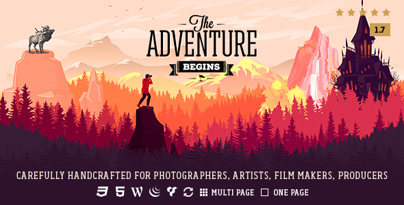قالب Adventure - قالب عکاسی